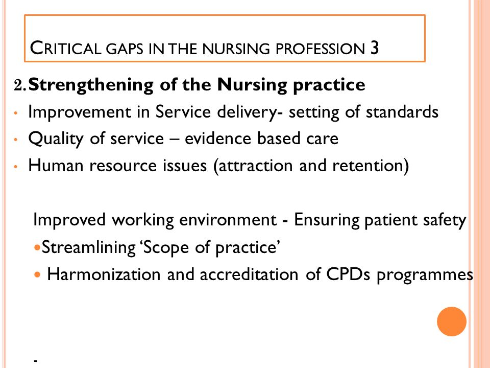 Critical gaps in the nursing profession 3