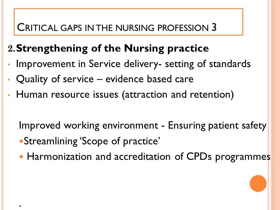 Critical gaps in the nursing profession 3