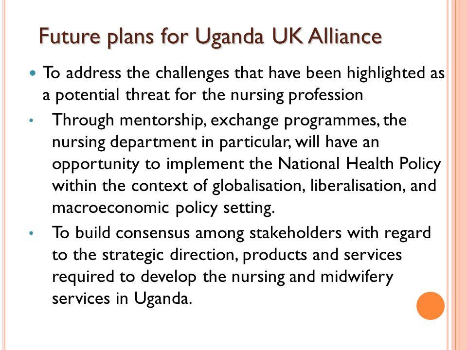 Future plans for Uganda UK Alliance