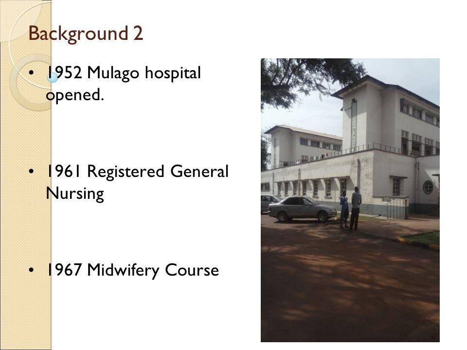 Background 2 1952 Mulago hospital opened.