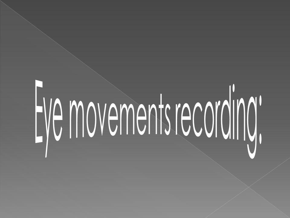 Eye movements recording:
