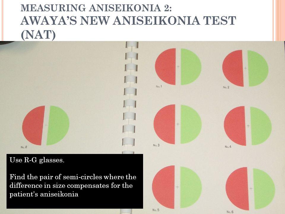 MEASURING ANISEIKONIA 2: AWAYA'S NEW ANISEIKONIA TEST (NAT)