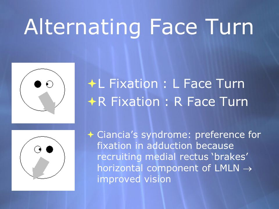 Alternating Face Turn L Fixation : L Face Turn