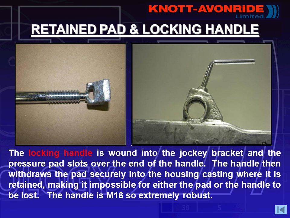 RETAINED PAD & LOCKING HANDLE
