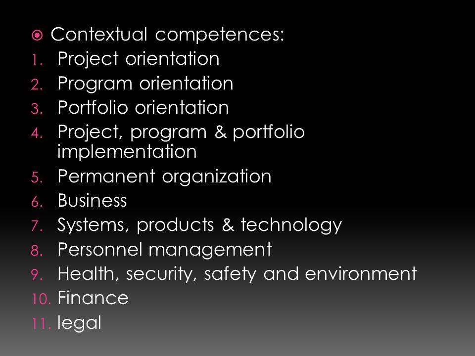Contextual competences: