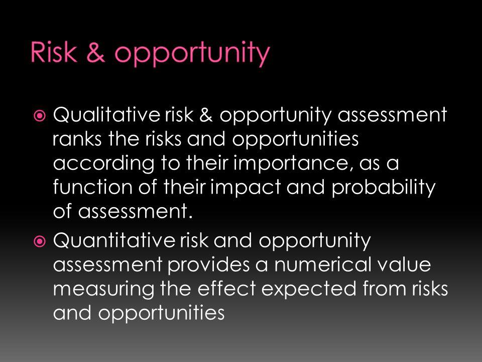 Risk & opportunity