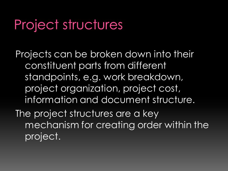 Project structures