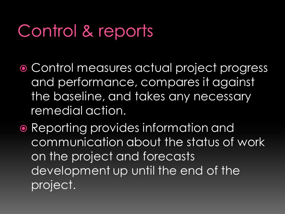 Control & reports