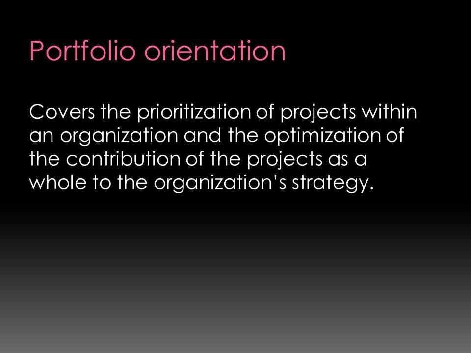 Portfolio orientation