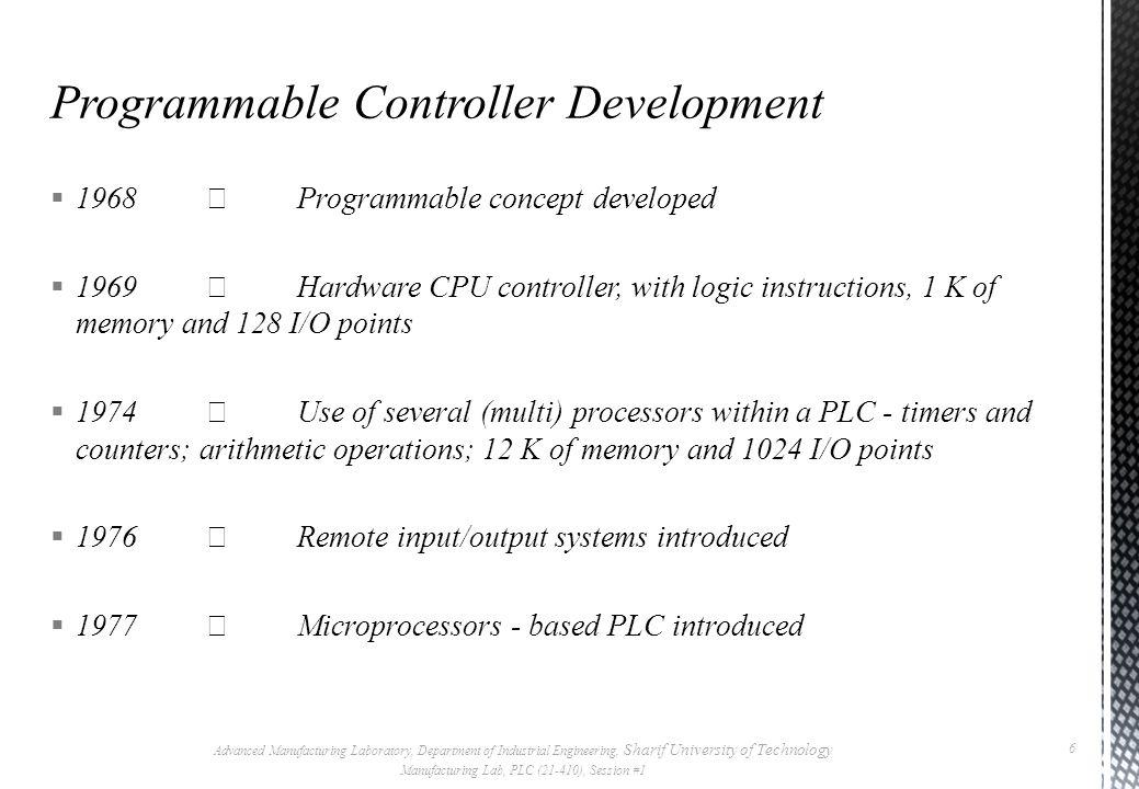Programmable Controller Development
