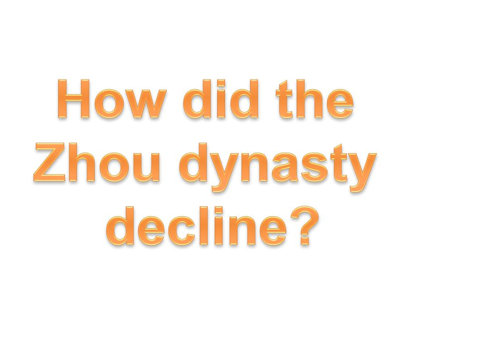 How did the Zhou dynasty