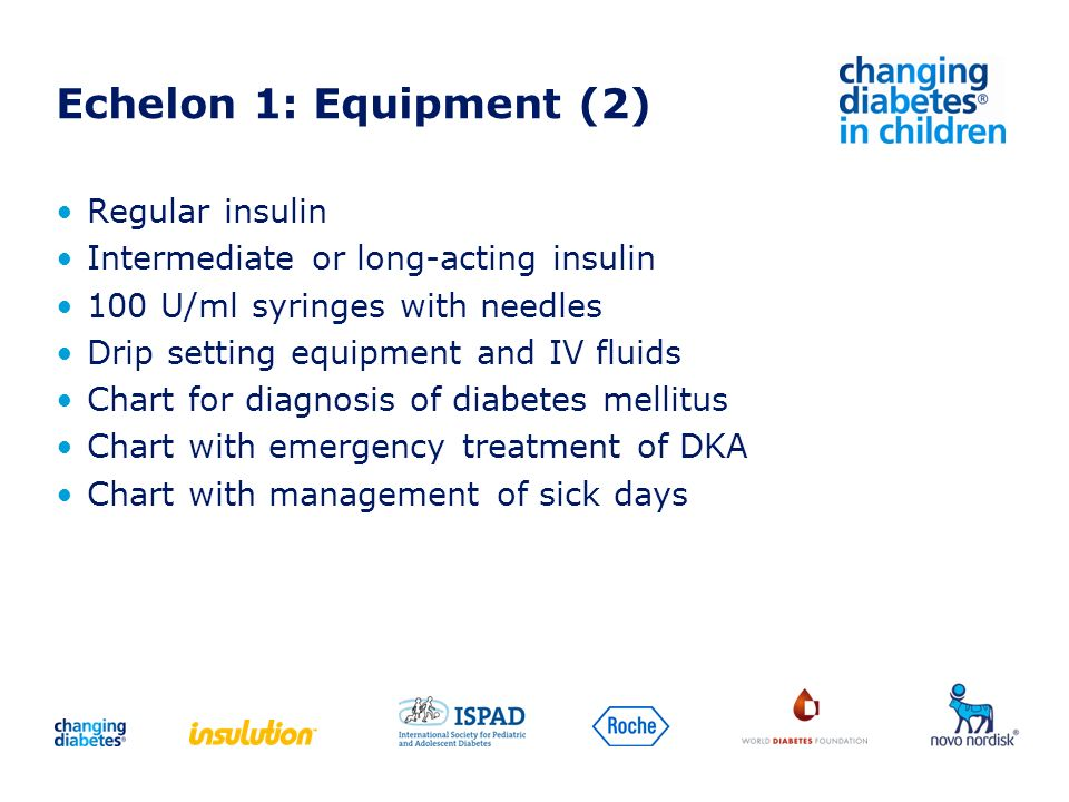 Echelon 1: Equipment (2) Regular insulin