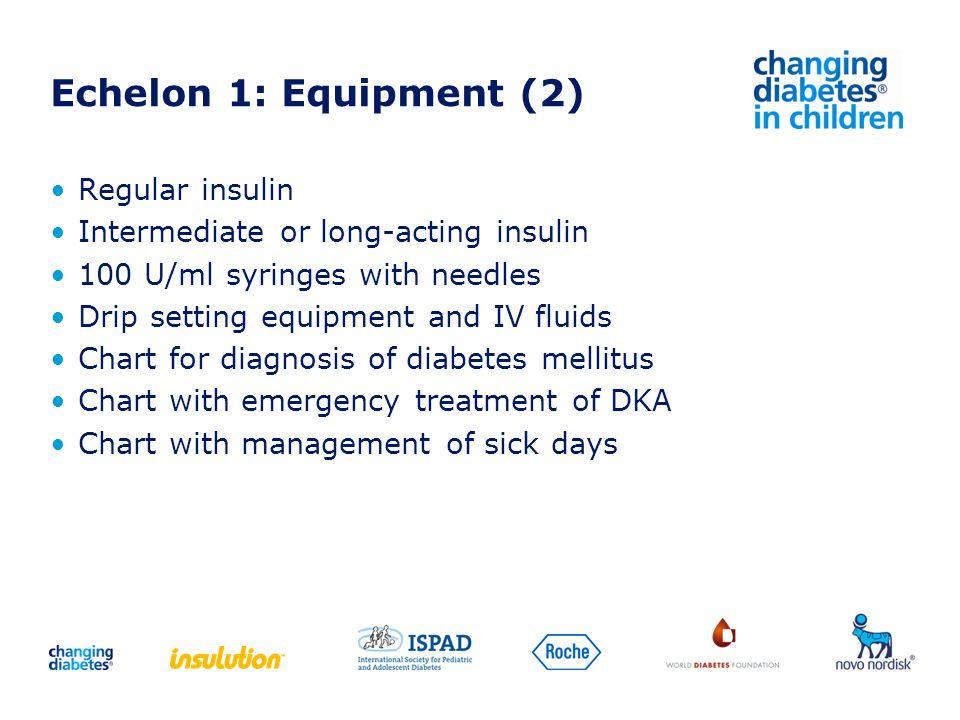 Echelon 1: Equipment (2) Regular insulin