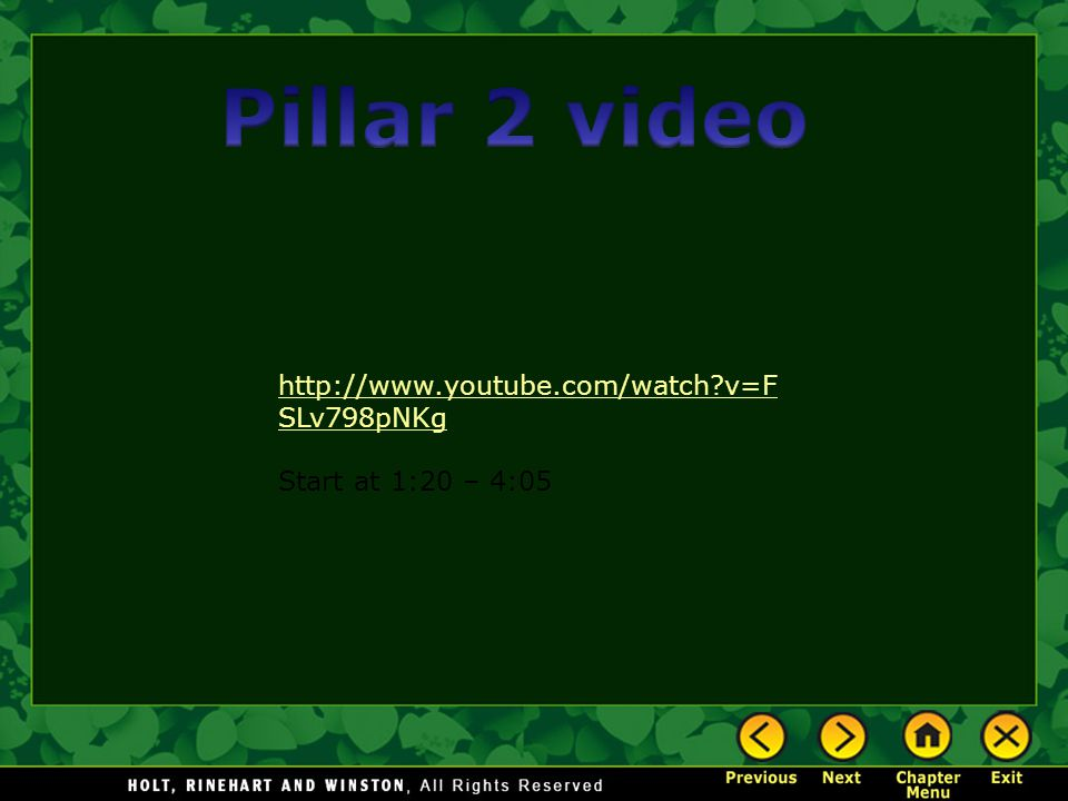 Pillar 2 video http://www.youtube.com/watch v=FSLv798pNKg
