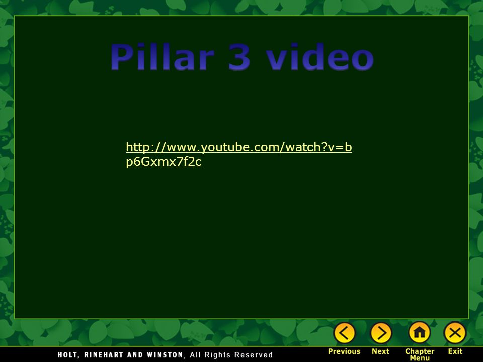 Pillar 3 video http://www.youtube.com/watch v=bp6Gxmx7f2c