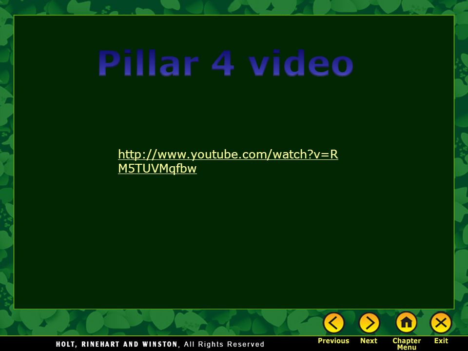 Pillar 4 video http://www.youtube.com/watch v=RM5TUVMqfbw