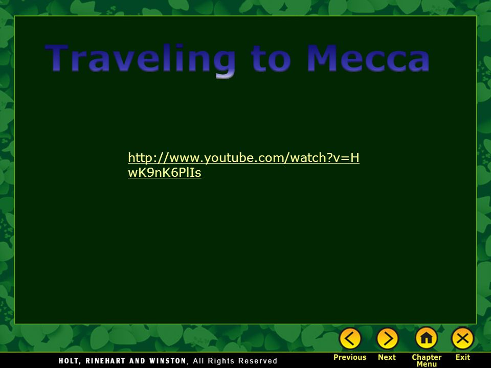 Traveling to Mecca http://www.youtube.com/watch v=HwK9nK6PlIs