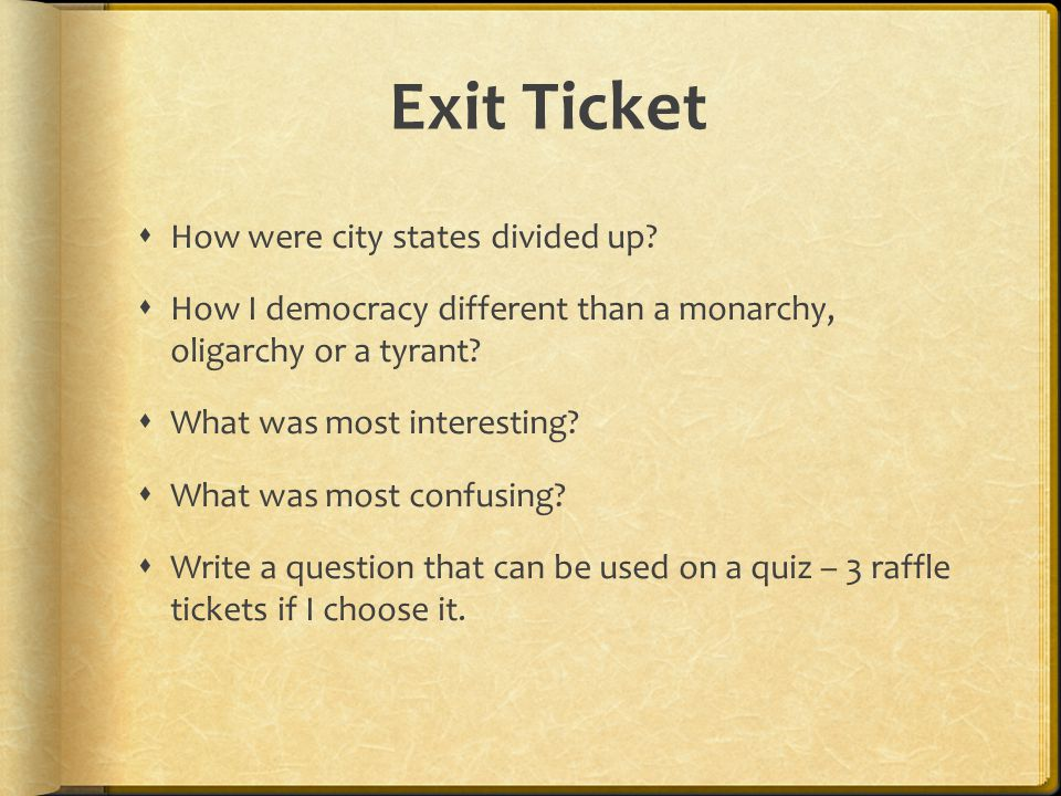 Exit Ticket How were city states divided up