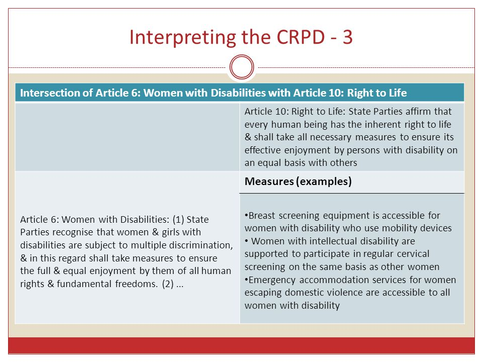 Interpreting the CRPD - 3