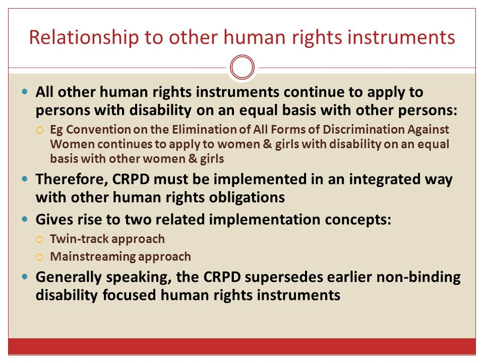 Relationship to other human rights instruments