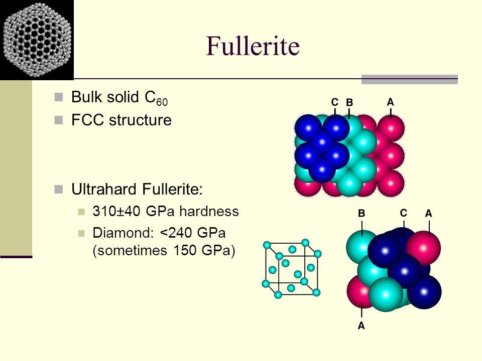 Fullerite Bulk solid C60 FCC structure Ultrahard Fullerite:
