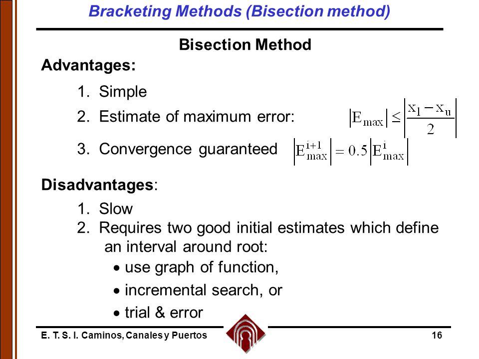 Bracketing Methods (Bisection method)