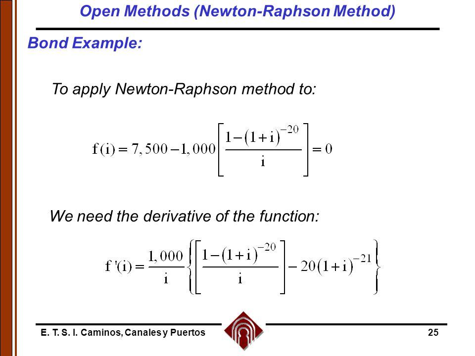 Open Methods (Newton-Raphson Method)