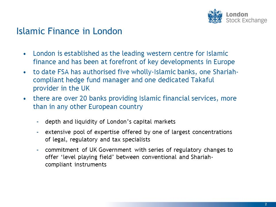 Islamic Finance in London