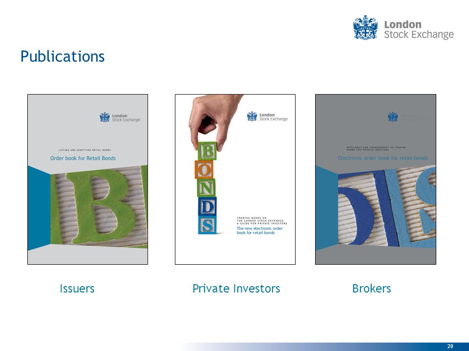 Publications Issuers Private Investors Brokers