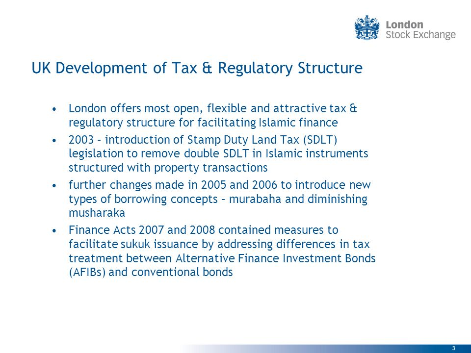 UK Development of Tax & Regulatory Structure