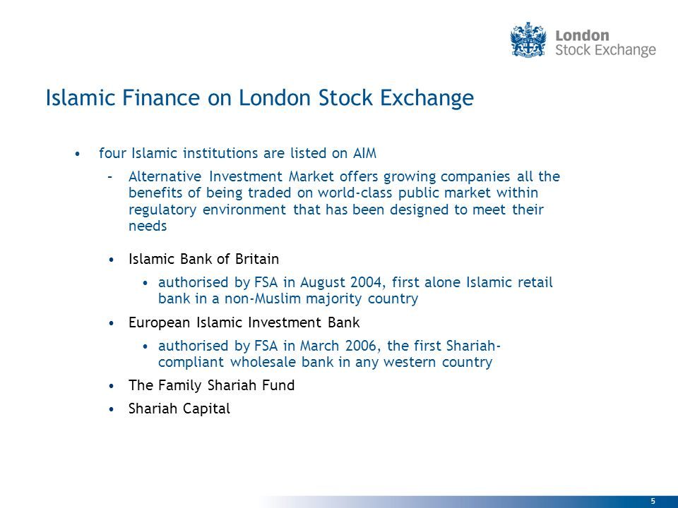Islamic Finance on London Stock Exchange
