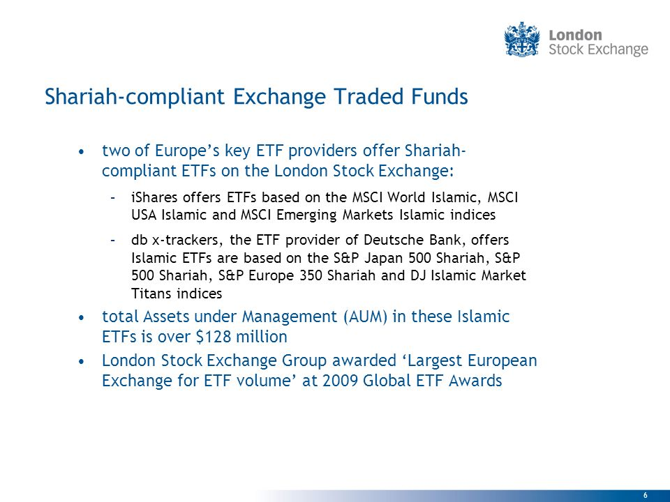 Shariah-compliant Exchange Traded Funds