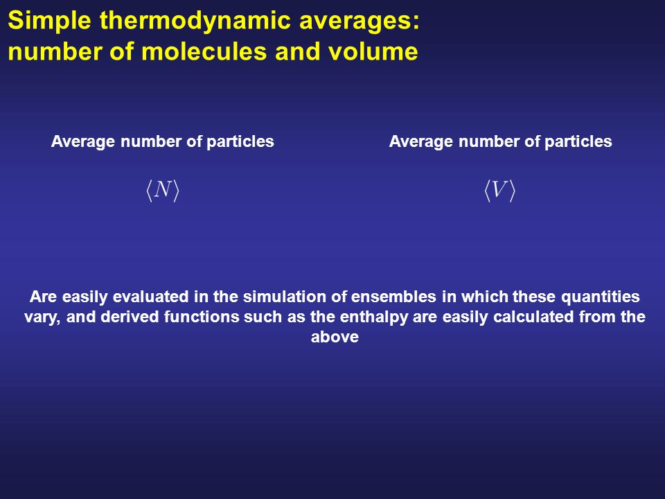 Average number of particles Average number of particles