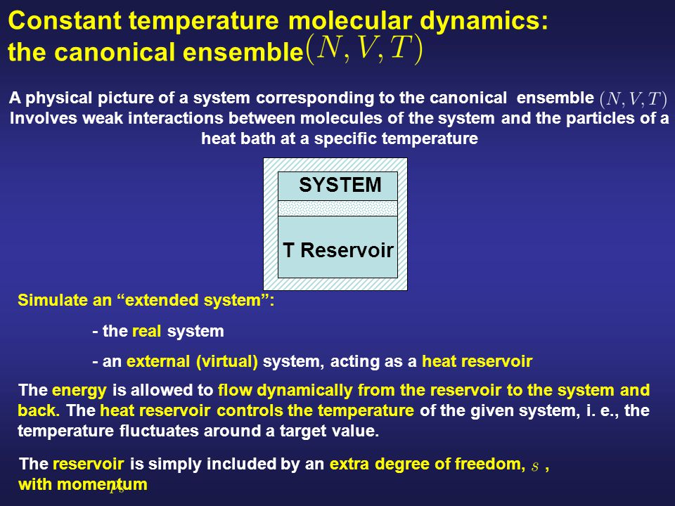 Constant temperature molecular dynamics: the canonical ensemble