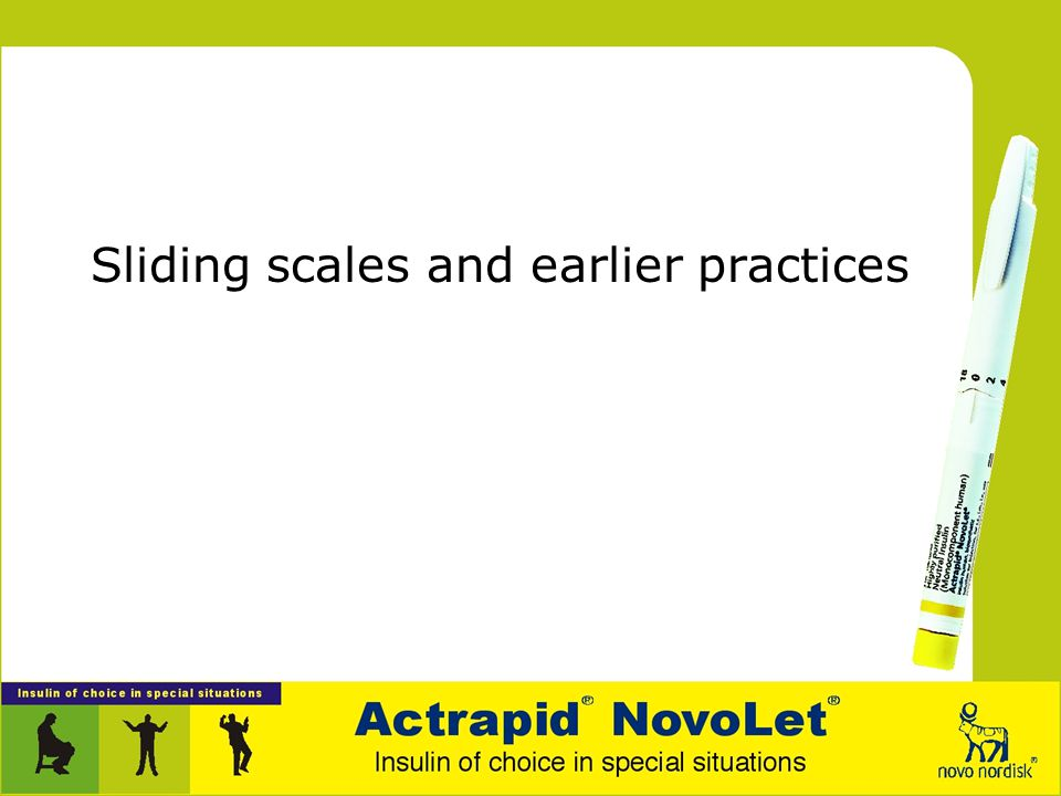Sliding scales and earlier practices