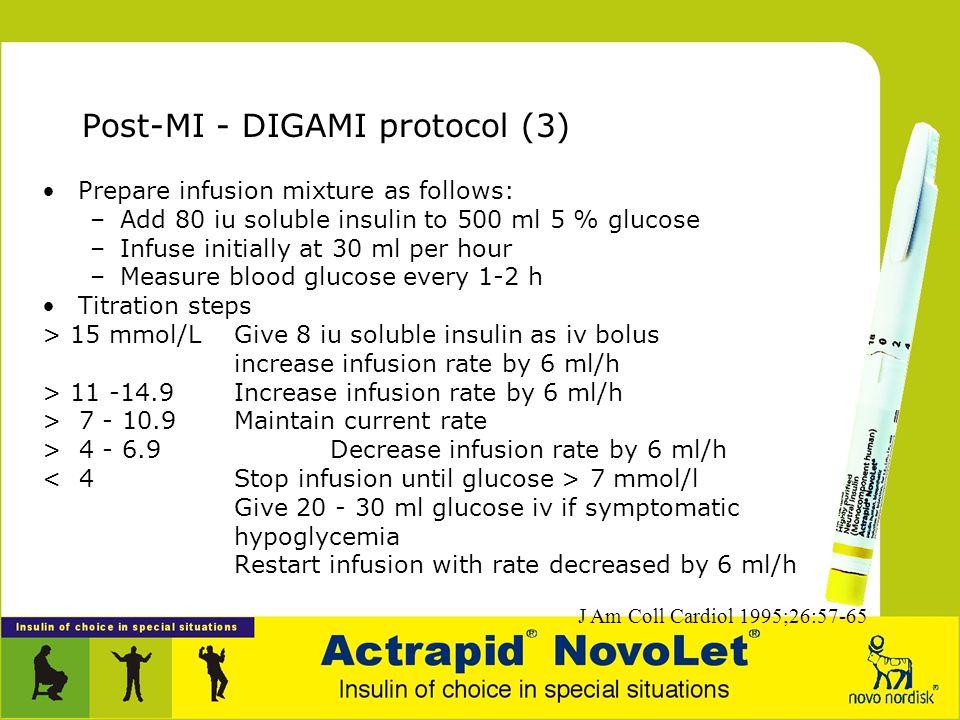 Post-MI - DIGAMI protocol (3)