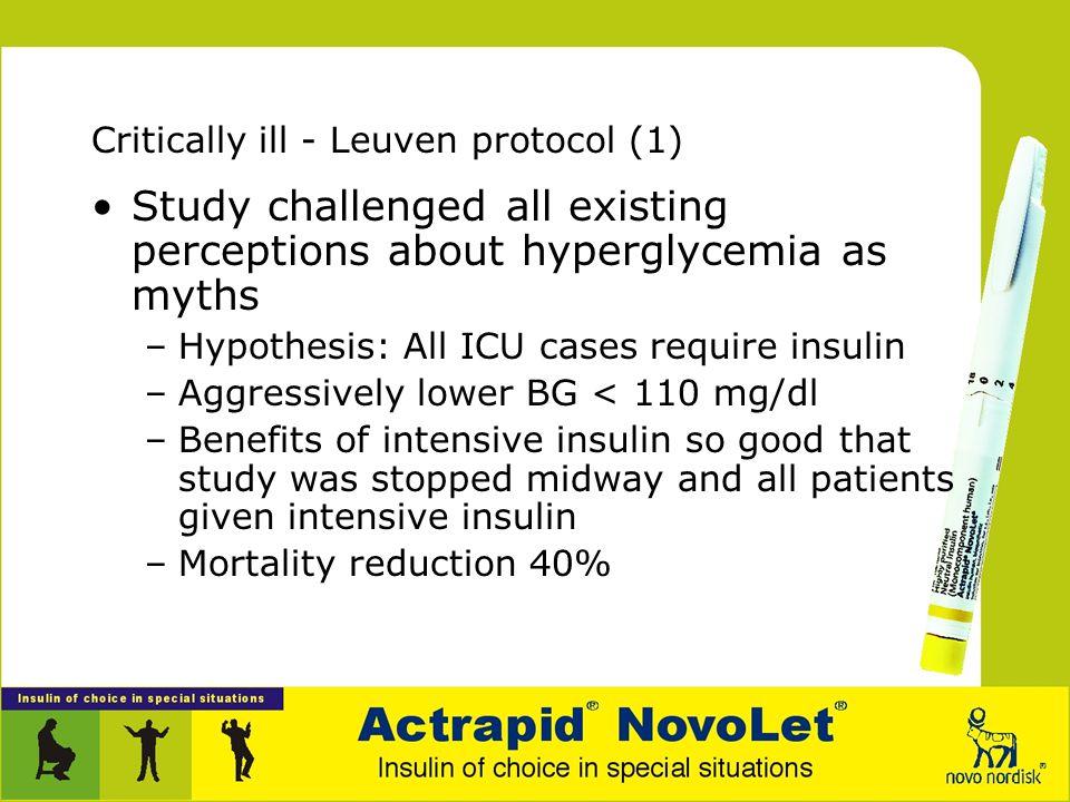Critically ill - Leuven protocol (1)