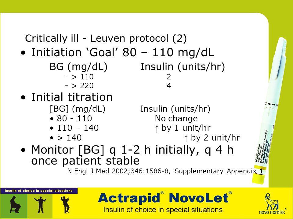 Critically ill - Leuven protocol (2)