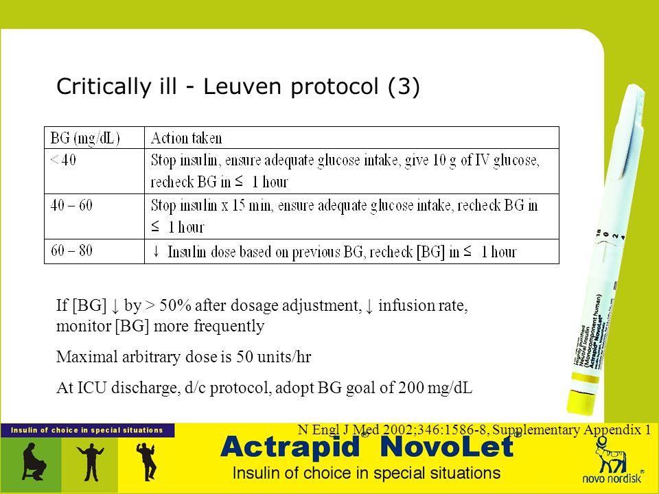 Critically ill - Leuven protocol (3)