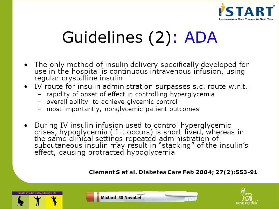 Guidelines (2): ADA