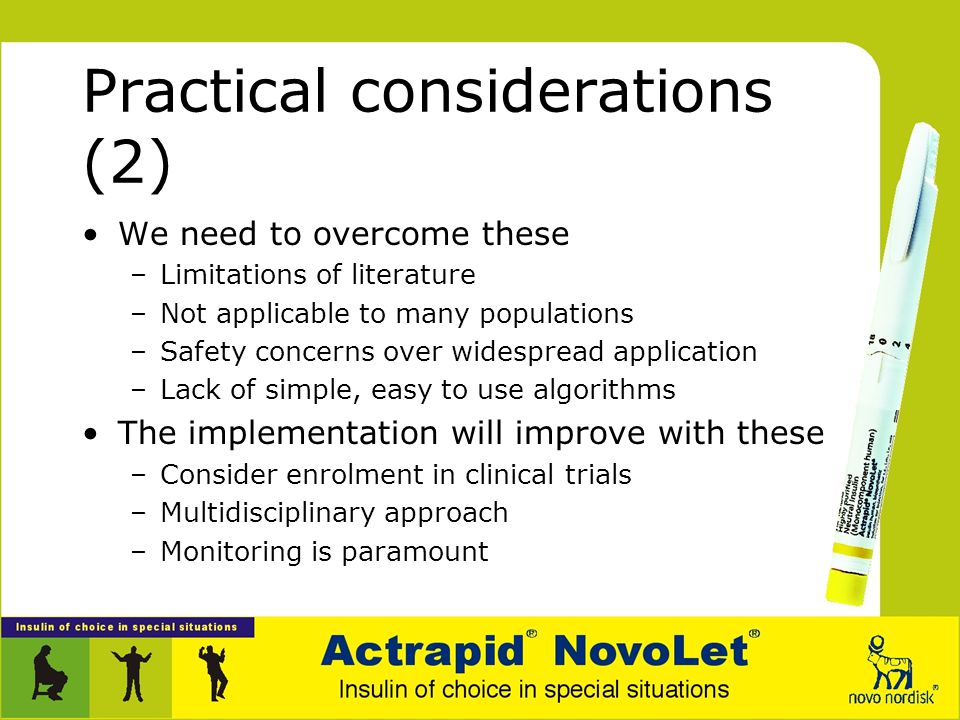 Practical considerations (2)