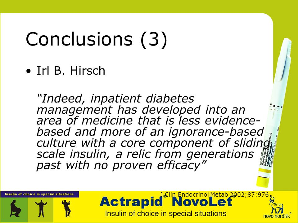 Conclusions (3) Irl B. Hirsch