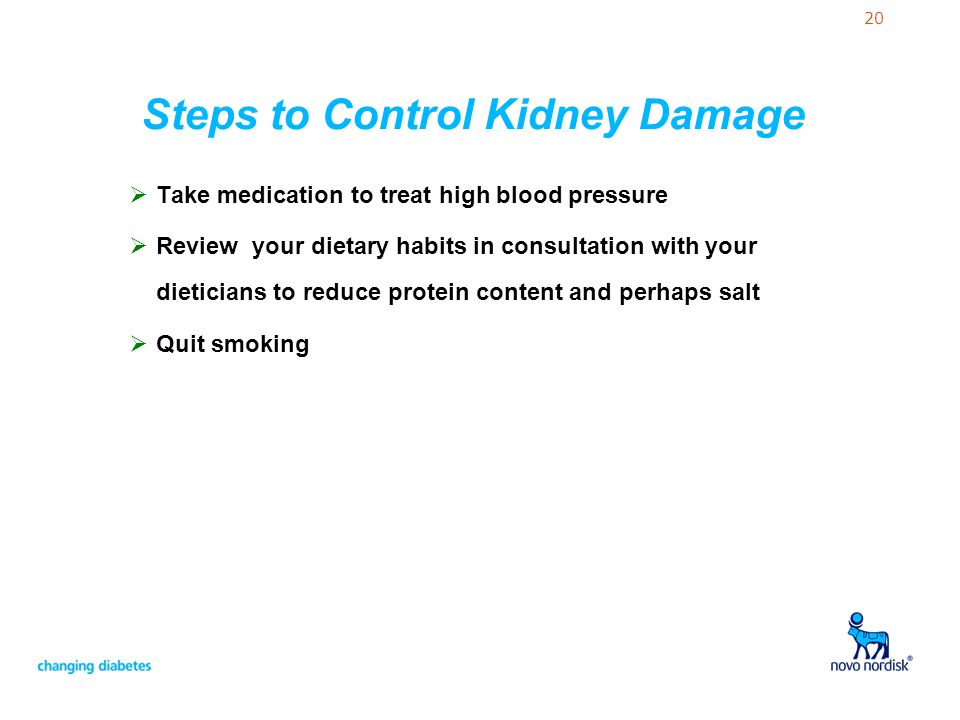 Steps to Control Kidney Damage