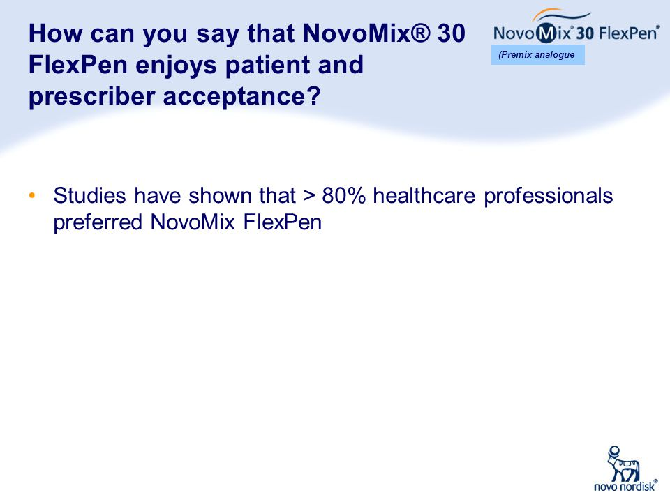 How can you say that NovoMix® 30 FlexPen enjoys patient and prescriber acceptance