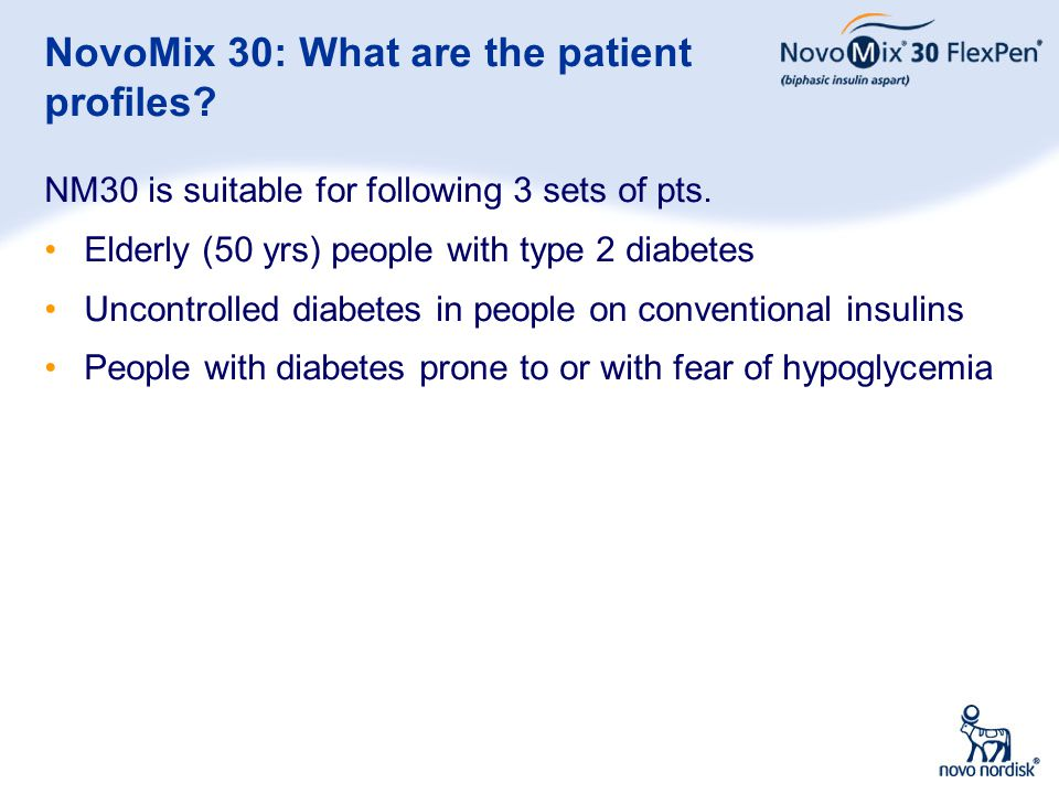 NovoMix 30: What are the patient profiles