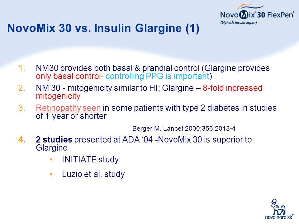 NovoMix 30 vs. Insulin Glargine (1)