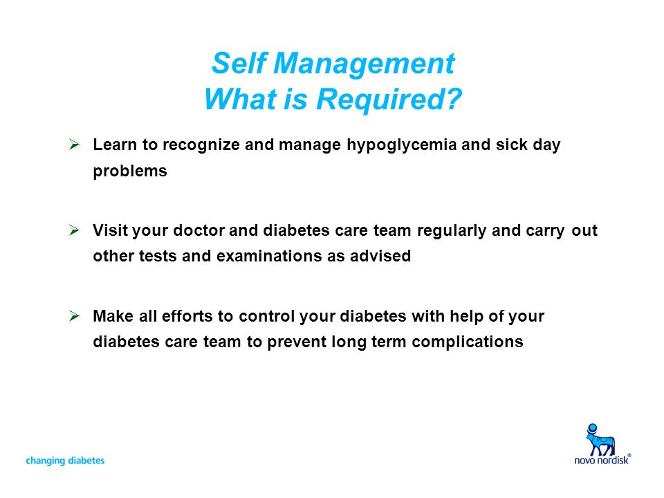 Self Management What is Required