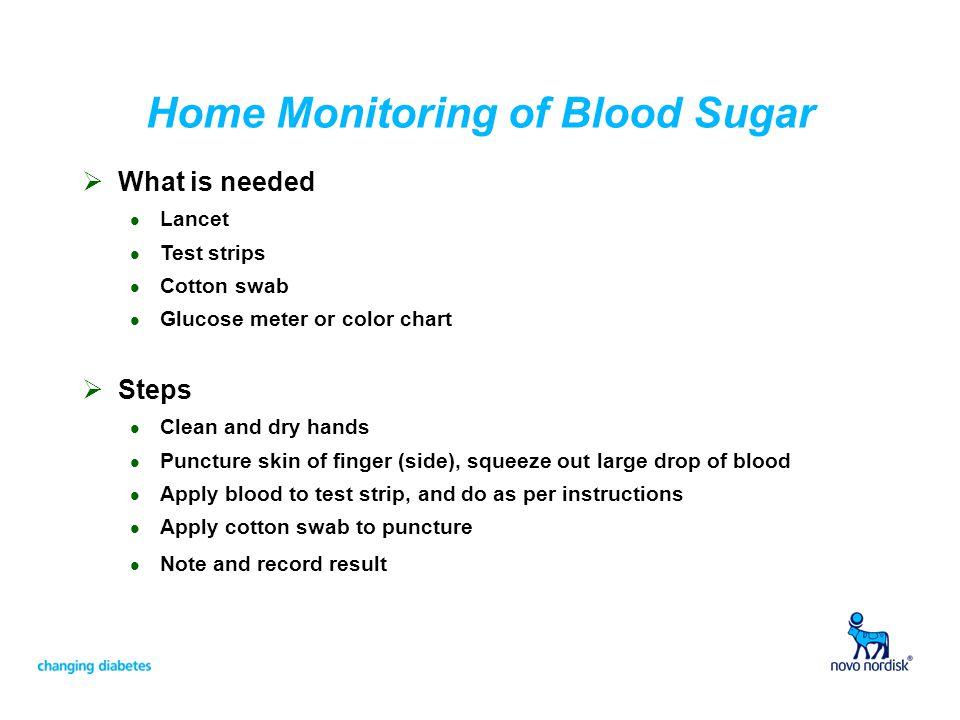Home Monitoring of Blood Sugar