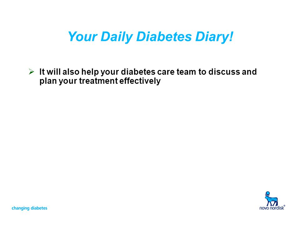Your Daily Diabetes Diary!