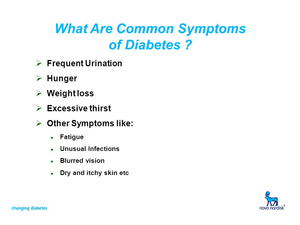 What Are Common Symptoms of Diabetes